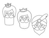 <span class='hidden-xs'>Coloriage de </span>3 rois mages à colorier
