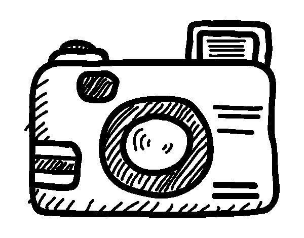 Coloriage de Appareil photographique reflex pour Colorier