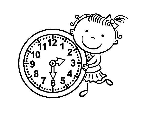 Coloriage de Apprendre les heures pour Colorier