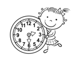 Dibujo de Apprendre les heures