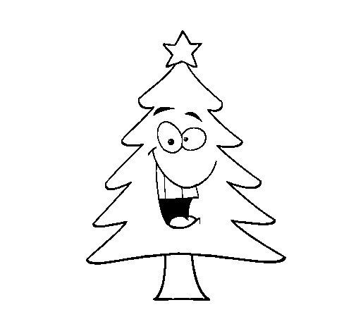 Coloriage de arbre de no l pour colorier - Arbre de noel dessin ...