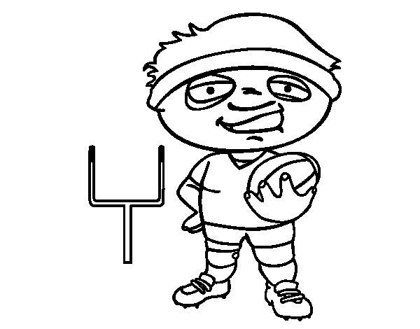 Coloriage de arri re de rugby pour colorier - Dessin de joueur de rugby ...