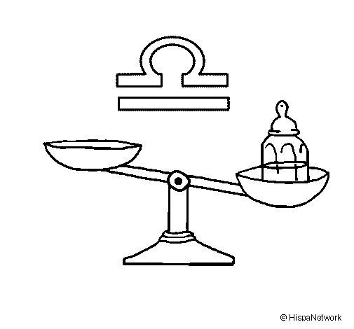 Coloriage de balance pour colorier - Dessin de balance ...