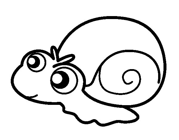 coloriage de bb escargot pour colorier