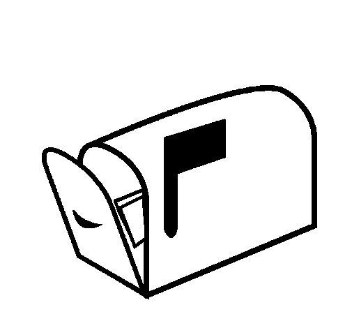 Coloriage de Boîte à lettres pour Colorier