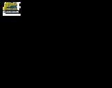 <span class='hidden-xs'>Coloriage de </span>Bob l'éponge - Sire pincepartout à l'attaque à colorier