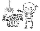 <span class='hidden-xs'>Coloriage de </span>Bonne fête d'Halloween à colorier