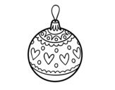 <span class='hidden-xs'>Coloriage de </span>Boule de Noël estampillé à colorier