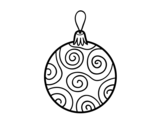 <span class='hidden-xs'>Coloriage de </span>Boule décoré l'arbre de Noël à colorier