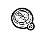 <span class='hidden-xs'>Coloriage de </span>Boussole de pirates à colorier