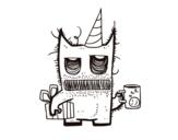 <span class='hidden-xs'>Coloriage de </span>Cadeaux monstre d'anniversaire à colorier