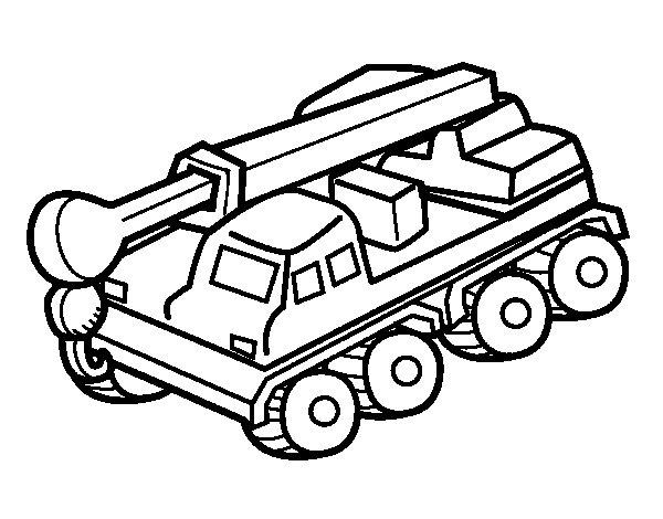 Coloriage de camion grue pour colorier - Dessin de grue ...