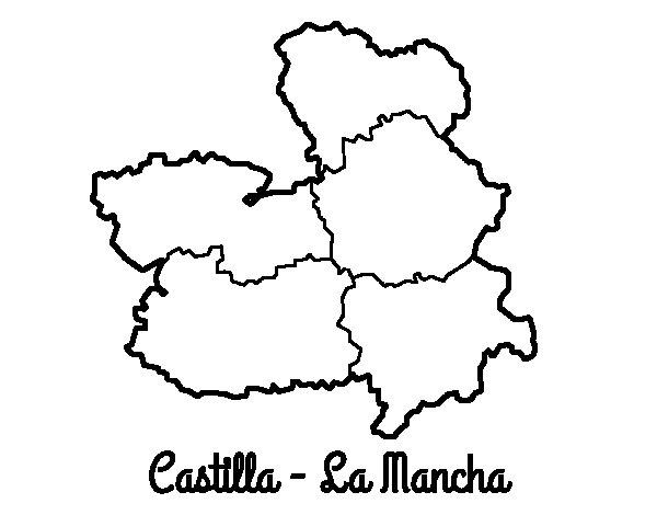 Coloriage de Castille-La Manche pour Colorier