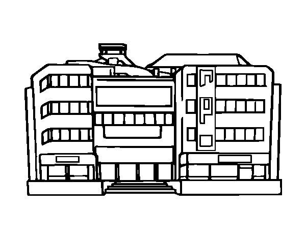 Coloriage De Centre Commercial Pour Colorier