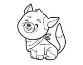 Dibujo de Chat à bandana