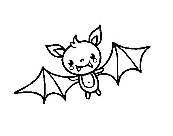 Coloriage de Chauve-souris Halloween pour Colorier