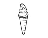 <span class='hidden-xs'>Coloriage de </span>Crème glacée cornet à colorier