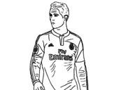 <span class='hidden-xs'>Coloriage de </span>Cristiano Ronaldo à colorier