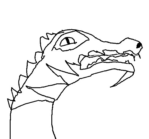 Coloriage de Crocodile pour Colorier