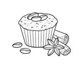 <span class='hidden-xs'>Coloriage de </span>Cupcake au café à colorier