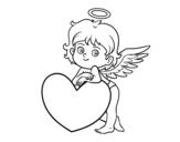 Dibujo de Cupidon et un coeur