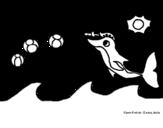 <span class='hidden-xs'>Coloriage de </span>Dauphin qui joue à colorier