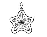 <span class='hidden-xs'>Coloriage de </span>Décoration de Noël étoile à colorier