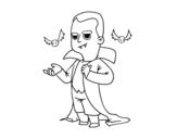 <span class='hidden-xs'>Coloriage de </span>Déguisement de vampire Halloween à colorier