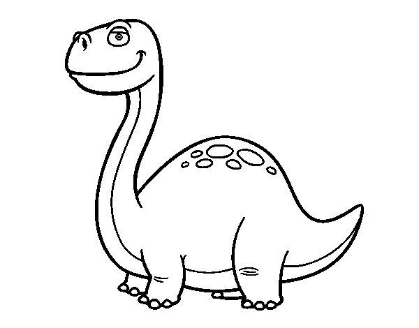 Coloriage de Dinosaure Diplodocus pour Colorier