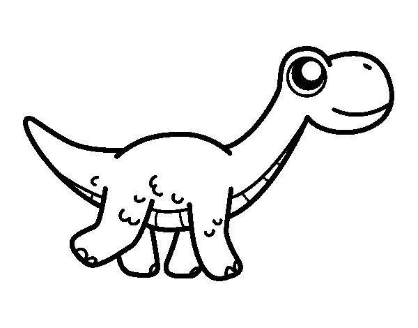 Coloriage de Diplodocus heureuse pour Colorier