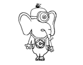 <span class='hidden-xs'>Coloriage de </span>Éléphant Minion à colorier