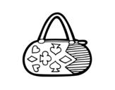 <span class='hidden-xs'>Coloriage de </span>Embrayague avec des motifs de jeu de cartes à colorier