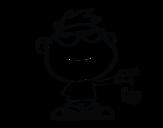 <span class='hidden-xs'>Coloriage de </span>Enfant avec araignée à colorier