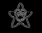 <span class='hidden-xs'>Coloriage de </span>Étoile de mer souriante à colorier