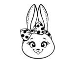 <span class='hidden-xs'>Coloriage de </span>Face de petit lapin à colorier