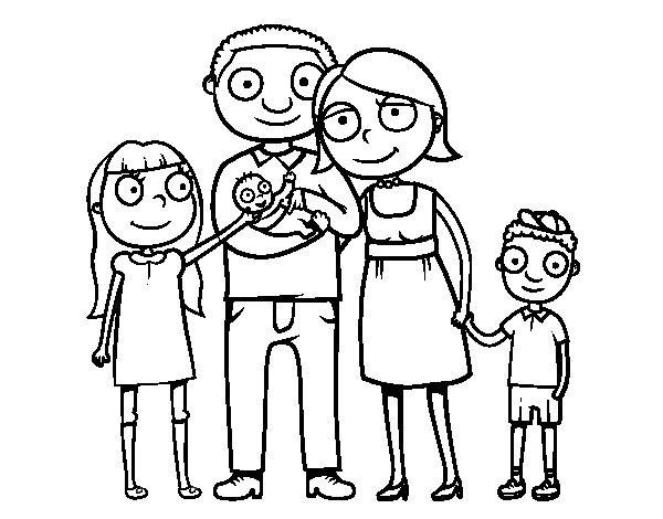 Coloriage de famille ensemble pour colorier - Coloriage de la famille ...