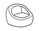 <span class='hidden-xs'>Coloriage de </span>Fauteuil rond à colorier