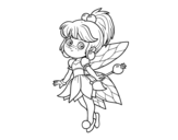 Dibujo de Fée magique de forêt