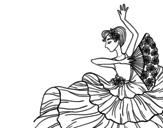 <span class='hidden-xs'>Coloriage de </span>Femme flamenco à colorier