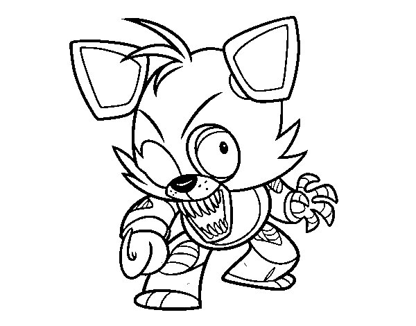 Coloriage de foxy de five nights at freddy 39 s pour colorier for Freddy coloring pages
