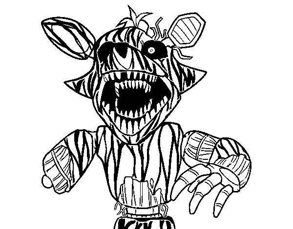 Kleurplaat Printen Kirby Nightmare Freddy Kleurplaat Nightmare Freddy Desenhado