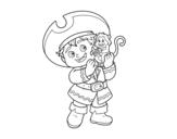 <span class='hidden-xs'>Coloriage de </span>Garçon pirate et son singe à colorier