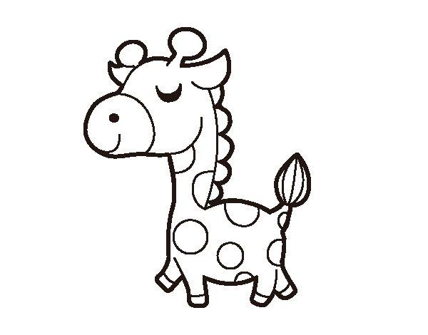 Coloriage de Girafe prétencieuse pour Colorier