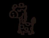 <span class='hidden-xs'>Coloriage de </span>Girafe prétencieuse à colorier