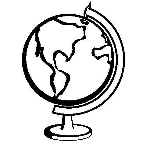 Coloriage de Globe II pour Colorier