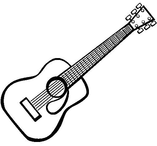 Coloriage de guitare espagnole ii pour colorier - Coloriage espagnol ...