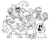 <span class='hidden-xs'>Coloriage de </span>Halloween Monsters à colorier