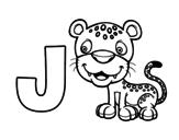 <span class='hidden-xs'>Coloriage de </span>J de Jaguar à colorier