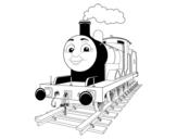 <span class='hidden-xs'>Coloriage de </span>James la locomotive Rouge à colorier