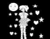 <span class='hidden-xs'>Coloriage de </span>Jeune anime à colorier